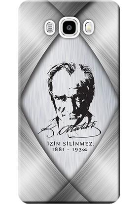 Kılıf Merkezi Samsung Galaxy J7 Core Kılıf SM-J701F Silikon Baskılı Atatürk Tasarım STK:402