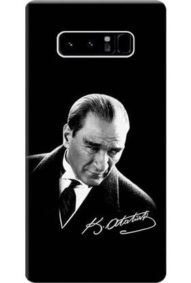 Kılıf Merkezi Samsung Galaxy Note 8 Kılıf Silikon Baskılı Mustafa Kemal Atatürk STK:390