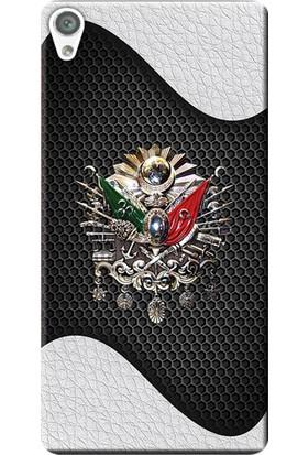 Kılıf Merkezi Sony Xperia Z5 Kılıf E6603 Silikon Baskılı Osmanlı Tuğra Tasarım STK:415