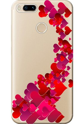 Kılıf Merkezi Xiaomi Mi A1 Kılıf Silikon Baskılı Kalp Cümbüşü STK:319