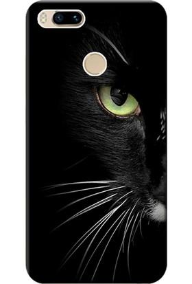 Kılıf Merkezi Xiaomi Mi A1 Kılıf Silikon Baskılı Face Cat STK:482