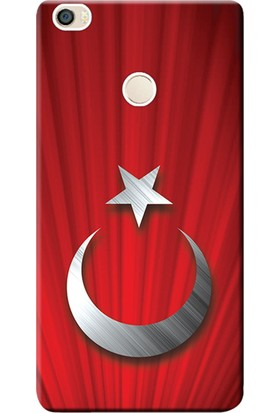 Kılıf Merkezi Xiaomi Mi Max 2 Kılıf Silikon Baskılı Türk Bayrağı Tasarım STK:384