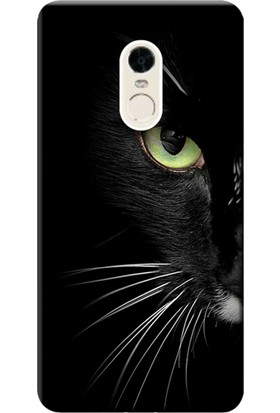 Kılıf Merkezi Xiaomi Redmi Note 4X Kılıf Silikon Baskılı Face Cat STK:482