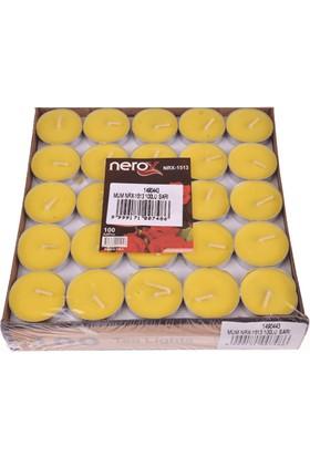 Nerox 100'Lü Sarı Tealight Mum