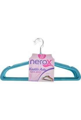 Nerox 10'Lu Turkuaz Kadife Askı