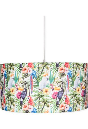 Fivorno Tropic Serisi Kuşlu ve Çiçekli Sarkıt