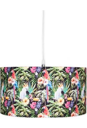 Fivorno Tropic Serisi Papağan ve Çiçekli Sarkıt