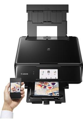 Canon Pixma TS8150 Fotokopi + Tarayıcı + Wi Fi Yazıcı - Siyah