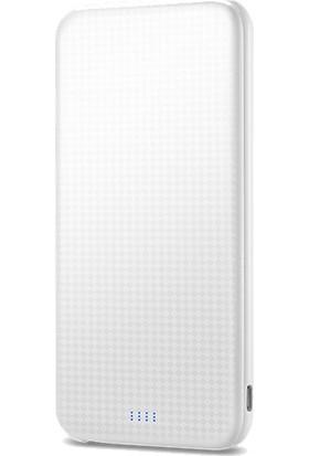 Spigen Essential 5000 mAh Slim Taşınabilir Şarj Cihazı Dahili Micro Usb Kablo + Lightning Adaptör White - 000BP22629