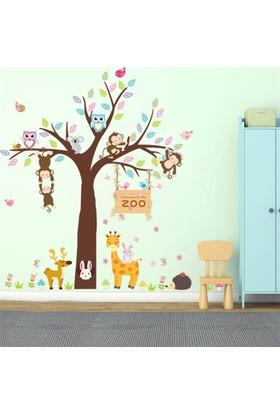 Zooyoo Köpek Koala Kablumbağ Çocuk Odası Pvc Duvar Sticker