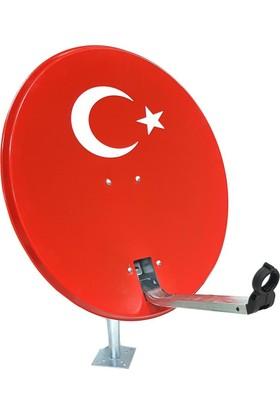 Antenci 80Cm Türk Bayraklı Çanak Anten