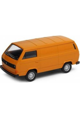 Welly Volkswagen T3 Van Metal Model Araba Turuncu