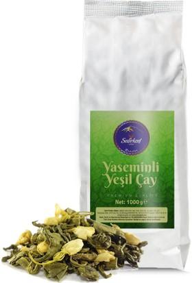 Sedirkent Yaseminli Yeşil Çay 1000gr %100 Gerçek Yasemin Çiçeği ve Yeşil Çay