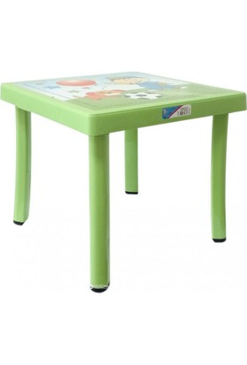 Plastart Çocuk Çalışma ve Oyun Masası-50x50 Çocuk Masası Desenli