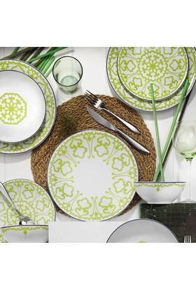 Kütahya Porselen Zeugma 6 Kişilik 24 Parça Yemek Takımı - Yeşil