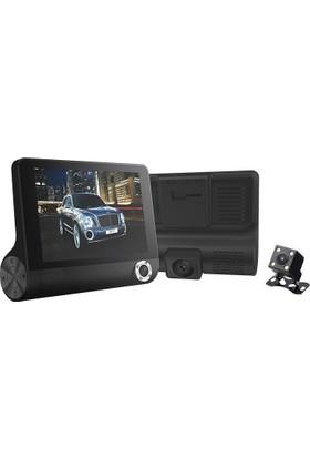 Allwinner AW66 4 İnç IPS Ekran 3 Kameralı Full HD Taksi Minübüs Araç İçi Kamera