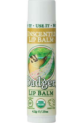Badger Lip Balm Unscented Sade Dudak Balmı