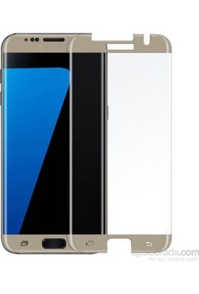 Case 4U Samsung Galaxy S7 Edge 3D Kavisli Cam Ekran Koruyucu Altın