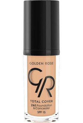 Golden Rose Total Cover 2 In 1 Fondöten&Kapatıcı 15