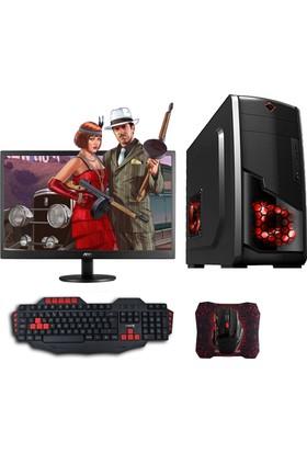 """Avantron AMD2215 AMD Ryzen 3 2200G 8GB 1TB + 120GB SSD GTX1050Ti Freedos 22"""" Masaüstü Bilgisayar"""