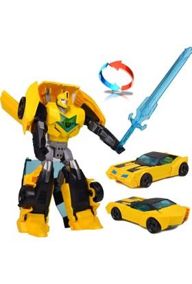 Steell TFC Transformers T-Warrior Bumblebee Dönüşen Robot Oyuncak Araba