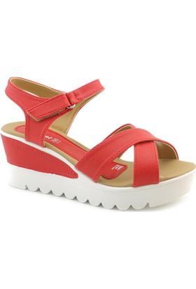 Polaris 308560 Günlük Dolgu Topuk Sandalet