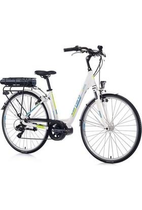 Carraro 28 E Power Elektirikli Bisiklet Beyaz-Turkuaz-Yeşil