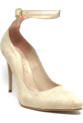 207-811 Kadın Sandalet Bej Süet