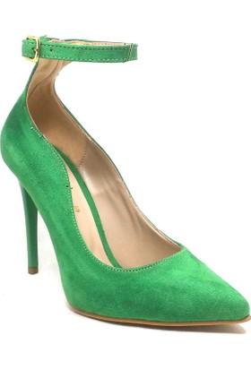 207-811 Kadın Ayakkabı Yeşil Süet Sandalet