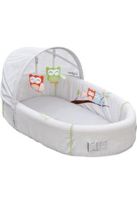 LulyBoo Amerika'dan İthal Taşınabilir Bebek Yatağı Premium - Owl - Baykuş