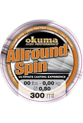 Okuma Allround Spin 300 mt 23,00 lb 10,5 kg 0,35 mm Brown Misina