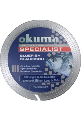 Okuma Bluefish 300 mt 16,90 lb 7,68 kg 0,31 mm Clear Misina
