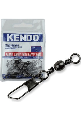 Kendo Rolling Swivel Safety Snap Snap 10 Adet (Düz Klips)