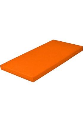 Mobilyapı turuncu Puf Jimnastik Minderi 60X120X10 Cm Yumuşak Sünger