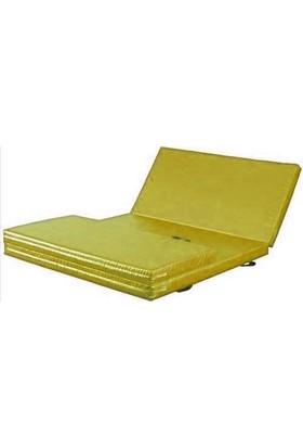 Mobilyapı sarı Katlanir Jimnastik Minderi 100X200X5 Cm Yumuşak Sünger