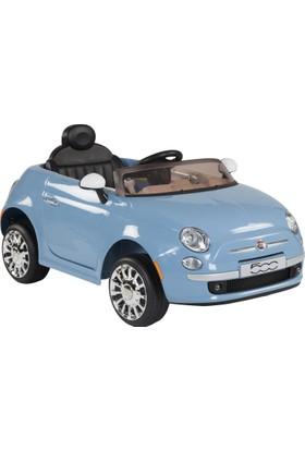 Fiat 500 Uzaktan Kumandalı Akülü Araba - Mavi 12V 5,5Ah 30W