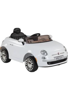 Fiat 500 Uzaktan Kumandalı Akülü Araba - Beyaz 12V 5,5Ah 30W