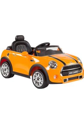 Mini Cooper Cabrio Akülü Araba - Turuncu 12V7Ah30W
