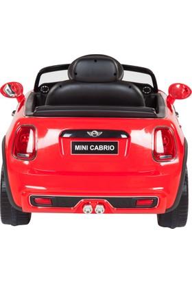 Mini Cooper Cabrio Akülü Araba - Kırmızı 12V 7Ah 30W