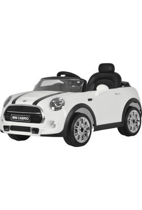 Mini Cooper Cabrio Akülü Araba - Beyaz 12V 7Ah 30W