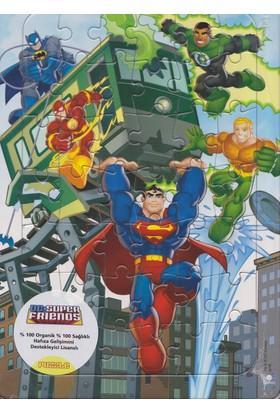 Degar Dc Super Friends 42 Parça Frame Puzzle