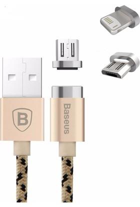 Baseus İnsnap Seri Micro Samsung Manyetik Kablo 1Metre Camıcro Lf0R