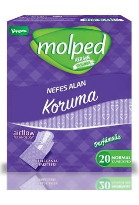 Molped Günlük Koruma Parfümsüz 20 Adet (Tekli Paketlerde)