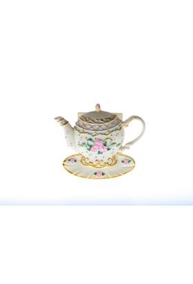 Kancaev Çaydanlık Peçetelik Dore Şeritli
