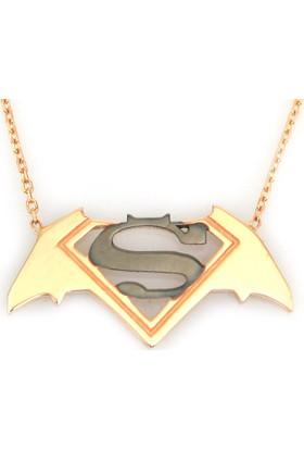 Kuyumcunuz Altın Batman Superman Kolye (14 Ayar)
