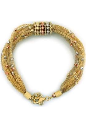 Kuyumcunuz Altın İtalyan Özel Tasarım Gösterişli Bileklik Künye (14 Ayar)
