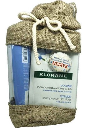 Klorane Volume Baume Lin 200ml + Volume Shampooing Lin 200ml Set