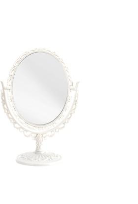 Madame Coco Çift Taraflı Masa Aynası - Beyaz