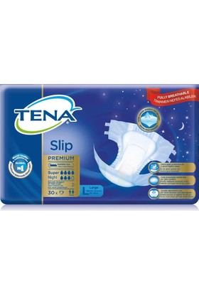 Tena Premium Super Night Ekstra Emici Belbantlı Hasta Bezi 30lu Large