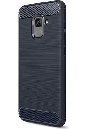 Kny Samsung Galaxy A8 Plus 2018 Kılıf Ultra Korumalı Room Silikon+Cam Ekran Koruyucu